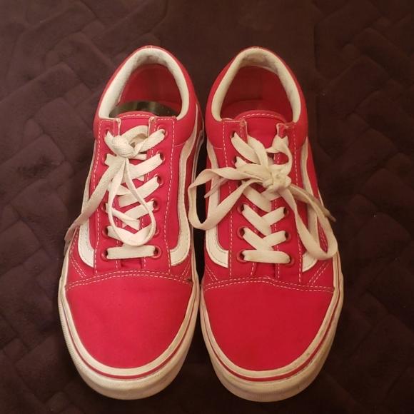 RED Low Top  Lace Up Old Skool Vans